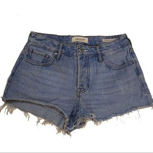 Pacsun Mid Rise Short Jean Shorts Distressed Sz 24